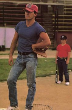 """Bruce Springsteen in his music video for """"Glory Days,"""" 1984."""