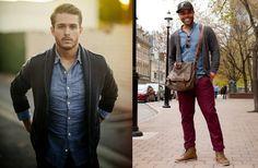 cardigan masculino com camisa jeans