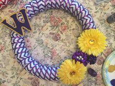 My first attempt at a UW huskies wreath