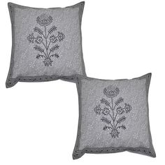 Indian Cases Cushion Cover Cotton Decorative Pillow Covers Pair 40 X 40 cm Throw