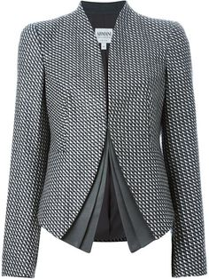 Shop Armani Collezioni check print layered blazer in Spinnaker 141 from the world's best independent boutiques at farfetch.com. Shop 300 boutiques at one address.