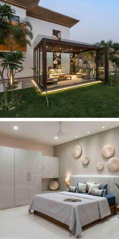 Rooftop Terrace Design, Terrace Decor, Terrace Garden Design, Home Garden Design, Balcony Design, Modern House Facades, Modern Exterior House Designs, Modern House Design, Small Space Interior Design