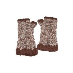 NOVICA Handcrafted Alpaca Wool Crochet Gloves from Peru (1.860 RUB) ❤ liked on Polyvore featuring accessories, gloves, brown, clothing & accessories, crochet gloves, alpaca gloves, fingerless gloves, lightweight gloves and novica