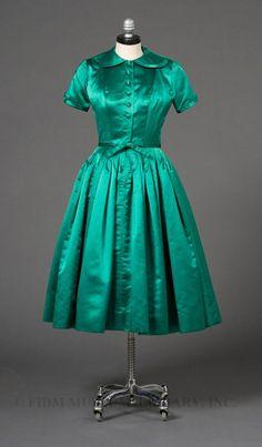 Cocktail Dress, James Galanos: ca. 1955, silk, satin, synthetic.