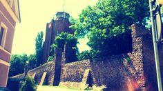Wieża ciśnień i część murów obronnych