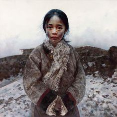 Tibet Girl paintings by Chinese artist Ai Xuan. In Ai Xuan's paintings, two subjects predominate: children and the snowy landscape of Tibet. Ai Xuan visited Tibet many times and, attracted by the landscape, he painted the people and the land. He left the traditional realism of his earlier works and approached the world of Buddhism and Zen.