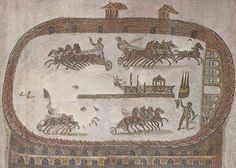 An ancient mosaic shows the circus of Carthage. | Carthage's circus was 470 meters (1542 feet) long and 30 meters (98.4 feet) wide. This was smaller than the Circus Maximus in Rome, which was wider and 80 meters longer. And while the Circus Maximus could seat 150,000 to 200,000 people, scholars believe the Carthage circus held far fewer spectators at around 45,000.  Still, the Carthage circus was the largest sporting venue of the empire except for those in Rome itself.