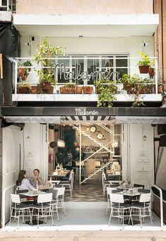 Malamén Restaurant in Polanco in Mexico by Ricardo Casas Design Office Small Restaurant Design, Deco Restaurant, Restaurant Interior Design, Restaurant Vintage, Modern Restaurant, Bar Interior, Coffee Shop Design, Cafe Design, Store Design
