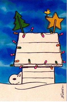 Snoopy's Christmas decorations