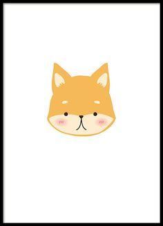 Plakat für Kinder mit einem kleinen Fuchs. Perfekt für das Kinderzimmer. www.desenio.de