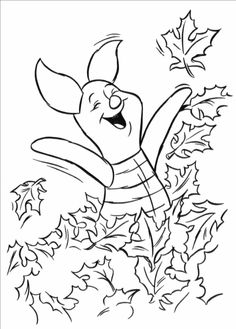 Happy Piglet Pig Coloring Pages To Print