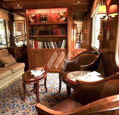 Lounge Car on the Orient Express Blue Train Simplon Orient Express, Istanbul, Train Journey, Train Trip, Choo Choo Train, Blue Train, Rail Car, Trains, Ways To Travel