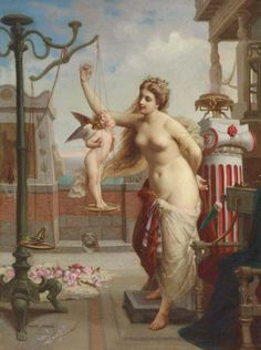 Henri-Pierre Picou - Weighing cupid and butterflies
