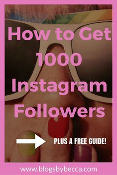 How to Get 1000 Instagram Followers. AMAZING tips and tricks for Instagram and social media to get more followers. Click to see all the tips and get the free guide!
