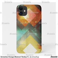 Seventies Orange Abstract Techno Triangles Case-Mate iPhone Case Iphone 11, Apple Iphone, Unique Iphone Cases, Triangles, Plastic Case, Keep It Cleaner, Techno, Holiday Cards, Smartphone