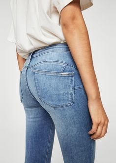 Kim skinny push-up jeans - Dames Push Up Jeans, Skinny Fit, Skinny Jeans, Young Actors, Mango, Fitness, Model, Cotton, Jeans Women