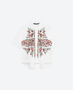 Image 8 of EMBROIDERED POPLIN SHIRT from Zara