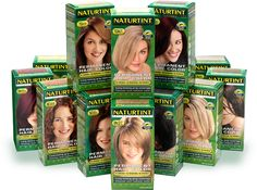 Naturtint Hair Care Products are all natural hair dyes with no harsh chemicals. They can be found at many health/whole food stores. - My mom is a chronic hair dye user, so this is a much less toxic option that's easy to find and much cheaper on Vitacost. All Natural Hair Dye, Organic Hair Dye, Natural Hair Styles, Hair Color Without Ammonia, Ammonia Free Hair Color, Temporary Hair Dye, Permanent Hair Color, Henna Hair Dyes, Dyed Hair