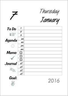 A5 Planner 2016 Filofax Printable Daily Kikki K Large by digizines on Etsy