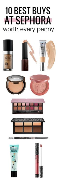 Here are ten of the best Sephora beauty products! They are worth every penny.