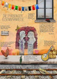 """Willy Puchner """"Die Farben der Eisenbahnreise""""  Siehe auch: www.willypuchner.com"""