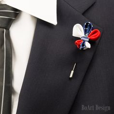 Victorian Cross Anchor Lance Lapel Stick Pin/Kanzashi Lapel Pin/Independence Day Lapel Pin/Lapel Flower/Men Lapel Flower/Brooch by BoArtDesign on Etsy