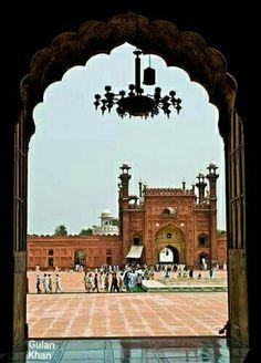 Fantastic beauty of great historical Badshahi Mosque Lahore Punjab Pakistan