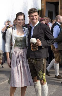 Thomas and Lisa looking all classy and beautiful at the Oktoberfest | Inspiration for raredirndl.com