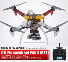 DJI F450 GPS Drone w/ NAZA V2 (RTF) - DJI-Drone-F450-NAZA-V2-RTF