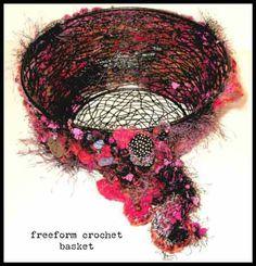 freeform crochet | Freeform Crochet Basket | Carla Barrett