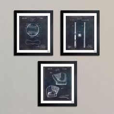 Baseball Set Of 3, $179, now featured on Fab.