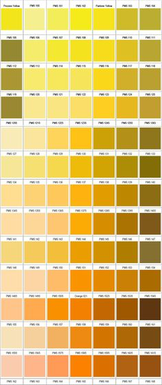 So many gorgeous shades of PANTONE yellow. What's your favourite? Colour Pallette, Colour Schemes, Color Patterns, Yellow Pantone, Pantone Color, Color Psychology, Colour Board, Color Swatches, Color Of Life