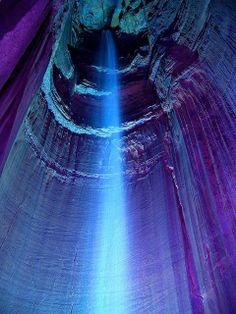 Ruby Falls (44 meter underground waterfall) Tennessee, USA