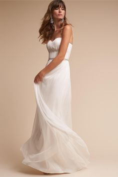 7d31f33e4c7 BHLDN s Catherine Deane Kyla Gown in Snow Wedding Dress Sizes