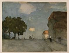 """The light of Weissenbruch: """"Te Noorden bij Nieuwkoop"""", watercolour"""