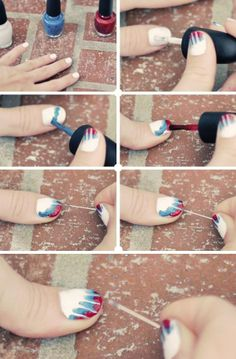 Cool and Easy Tie-dye Nails Tutorial