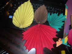 Origami liście