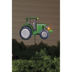 Solar Metal Tractor Yard Stake by Maple (Brown) Lane CreationsTM