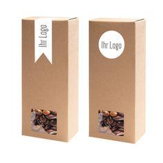 Die Verpackung aus 100% Karton gibt flexiblen Beutel Stabilität. In Kombination mit einem für Sie individuell produzierten ETIVERA Etikett ist Ihr Produkt perfekt verpackt.  In 3 Größen erhältlich.  www.etivera.com Blitz