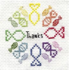 So Long and Thanks for all the Fish cross stitch pattern douglas adams hitchhikers guide to the galaxy. $4.00 USD, via Etsy.
