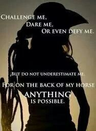 Never underestimate a girl on her horse