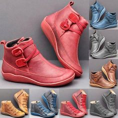 Damen Schuhe Stiefeletten Ankle Boots Winterschuhe Freizeit Sneaker Halbschuhe