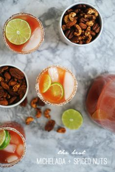 Michelada and Spiced Lime Nuts