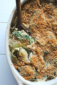 Tuna and Spinach Stuffed Shells