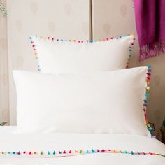 POMPOM PERCALE PILLOW CASE - Gypset - Edit 3 - Campaign SS16 | Zara Home United States of America