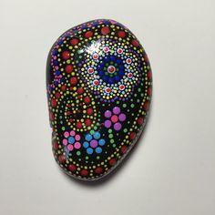 Mandala Stone Paisley 150 by MafaStones on Etsy....Flowered paisley design in mandala style!