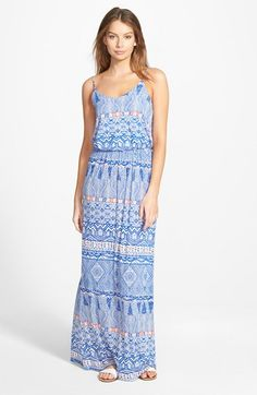 Lush Print Maxi Dress available at #Nordstrom