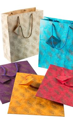 Batik handmade gift bags great for presenting asian gifts for thank you presents for weddings, mehndi's and hen celebrations. From www.fuschiadesigns.co.uk.