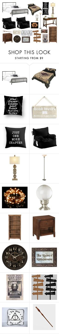 """Harry Potter Room"" by aliboo19 ❤ liked on Polyvore featuring interior, interiors, interior design, home, home decor, interior decorating, Universal Lighting and Decor and Home Decorators Collection"