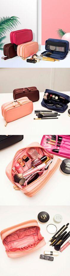 [$ 11.99] Women Nylon Cosmetic Bag Girls Toiletry Bag Travel Storage Bag